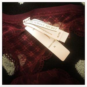 Victoria's Secret Intimates & Sleepwear - VS Burgundy Lace Thong